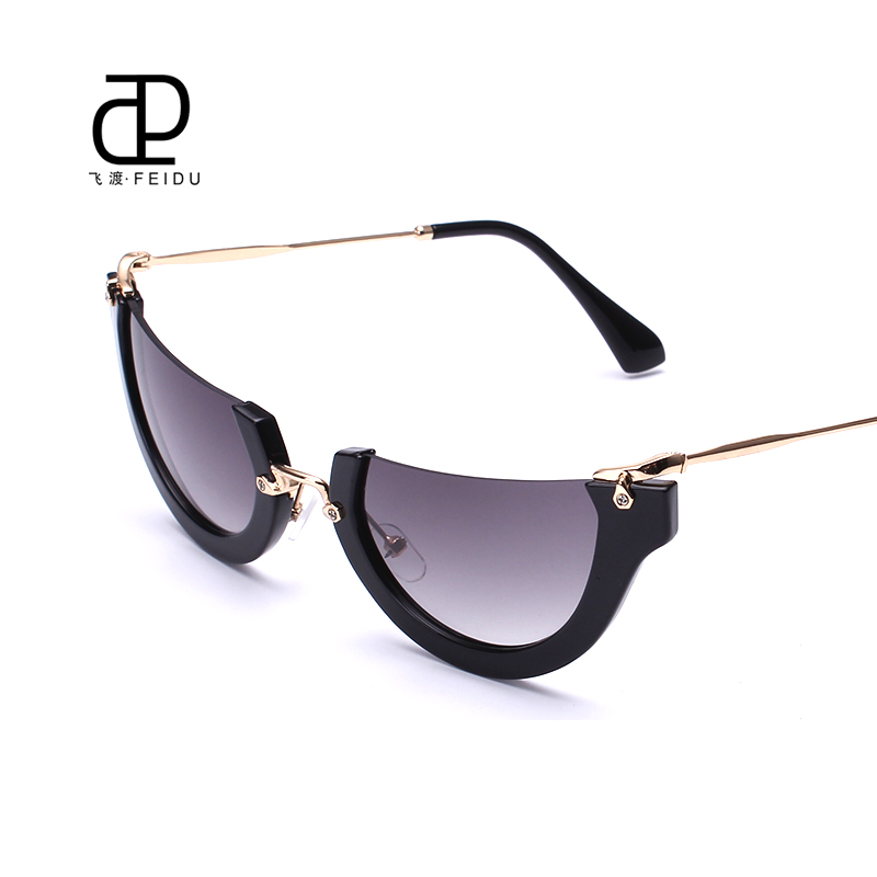 FEIDU Newest Semi Rimless Sunglasses Women Brand Designer ...