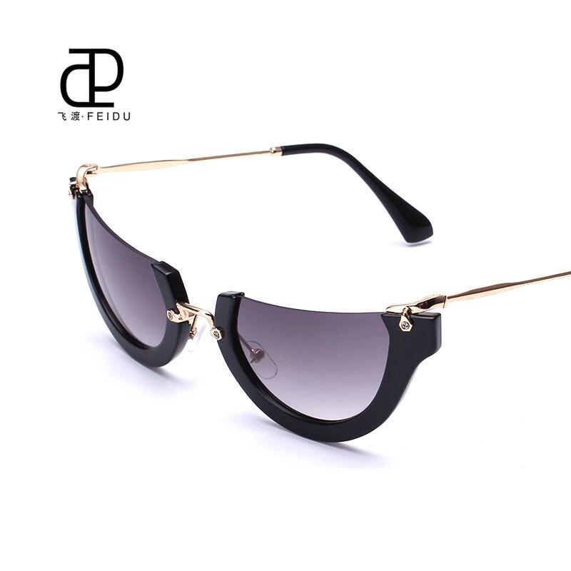 Las Rimless Sunglasses  compra cat eye half frame semi rimless sunglasses online al por
