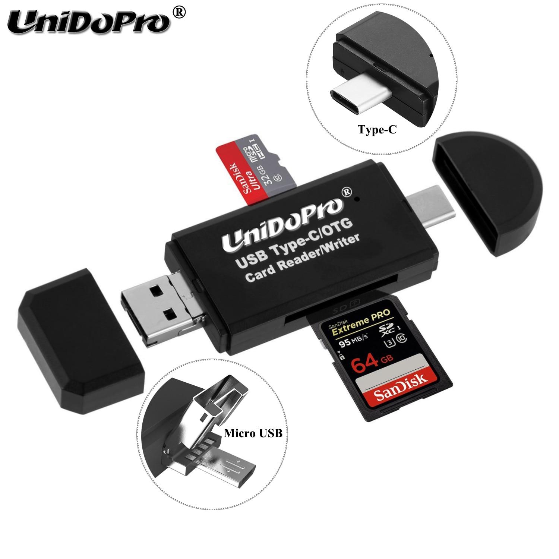 Phone USB Type C OTG Adapter Memory Card Reader For Sony Xperia 5 1 XZ XZ1 XZ2 XZ3 Premium R1 XA1 10 Plus XA2 Ultra L1 L2 L3