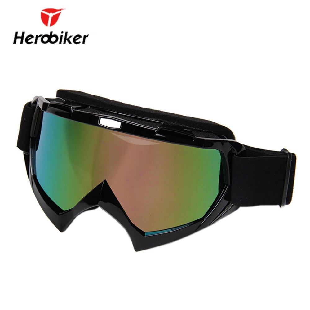 HEROBIKER Ski Snow Snowboard Glasses Motocross Off-Road Dirt Bike Downhill Googles Motorcycle Riding Airsoft Paintball Eyewear