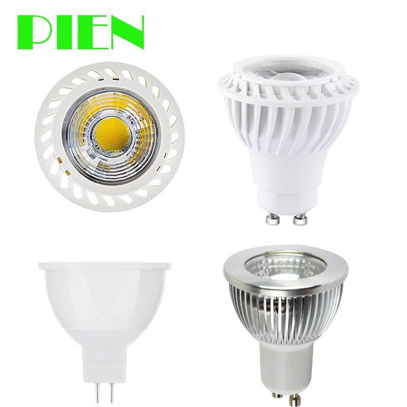 GU10 COB MR16 Lampadine LED Dimmerabile Lampada fiala 220 V 110 V 12 V E27 E14 focos led 7 W 5 W alluminio per downlight da DHL 30 pz