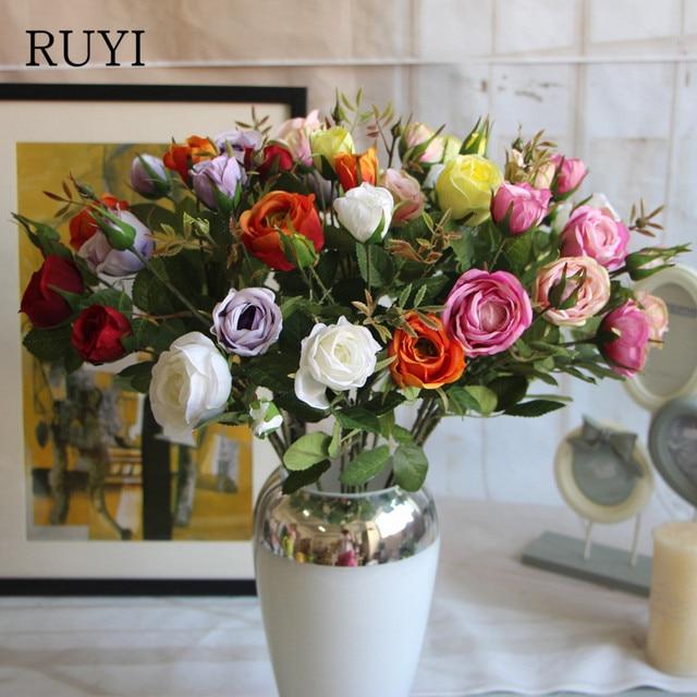 Korean Style Paris Rose Artificial Silk Flower Decorative Flower For
