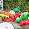 Деревянные Игрушки Фруктов И овощей притворись игры с ребенком Развивающие Мягкие Монтессори дети интеллектуальные творческие интерактивные игрушки