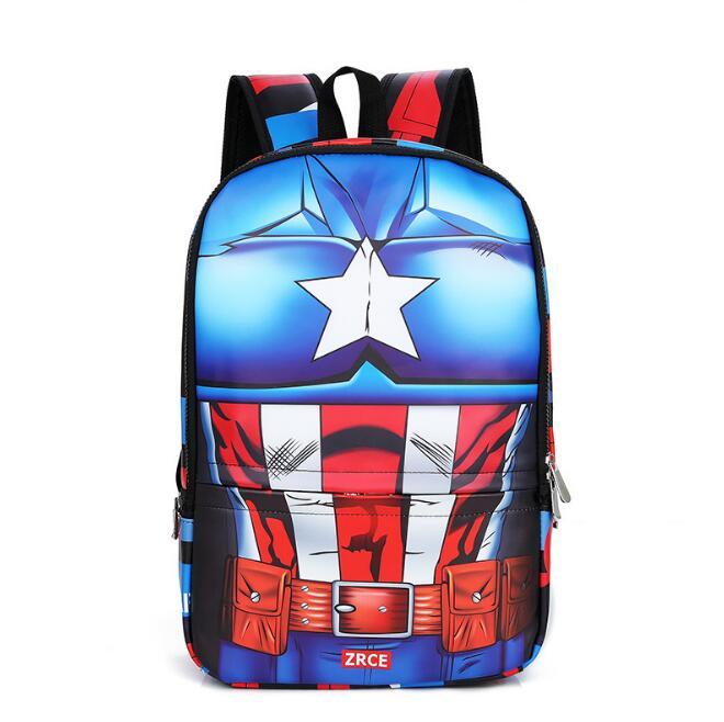 Нового супергероя детская школьная сумка детская книга мешок рюкзак для мальчика модная школьная сумка рюкзак школы Водонепроницаемый дет...