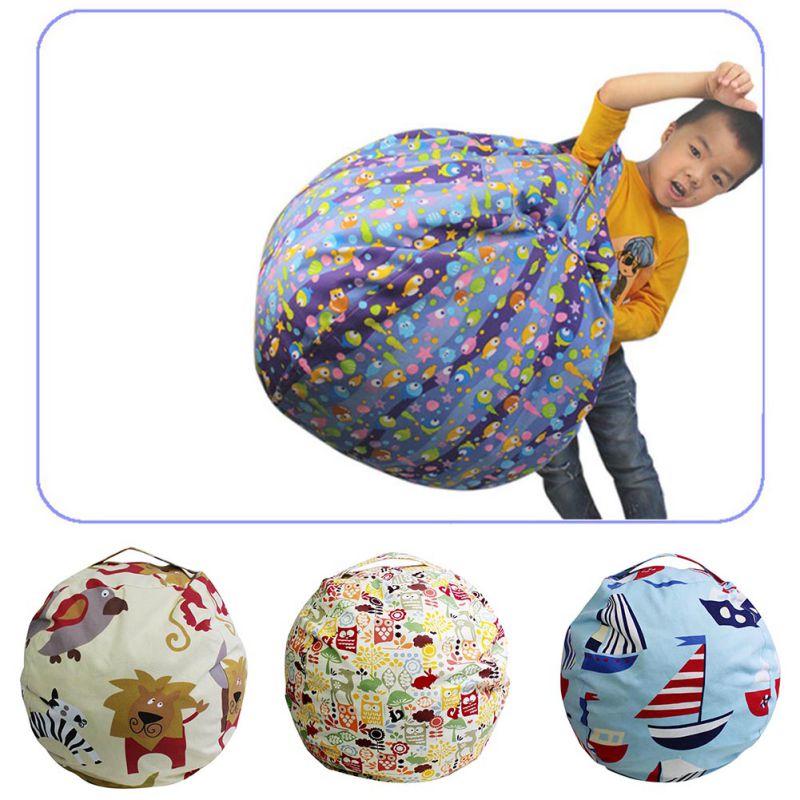 EXTRA grandes cosas 'n Sit-peluche almacenamiento cubierta del bolso de haba-Limpiar la habitación y poner los almacenamiento en el hogar