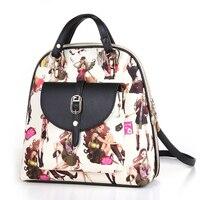 2016 new single ladies bag leather ladies handbag Single shoulder bag handbag Inclined shoulder bagPrinted flower package