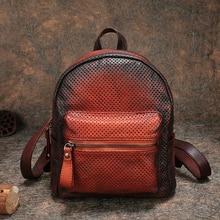 Multifunction School Bags 2018 Handmade Cowhide Backpack Notebook Knapsack FCTOSSR Retro Genuine Leather Back Pack Bags Female