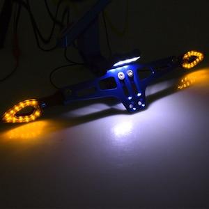 Image 2 - دراجة نارية رخصة إطار لوحة الرخصة قوس جبل حامل العلامة مصباح إشارة الانعطاف led ل دوكاتي 696 796 796 848