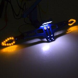 Image 2 - Tablica rejestracyjna na motocykl uchwyt ogon z tyłu oprawa świetlna do montażu z włącz sygnał świetlny dla Benelli BN TNT600 TNT1130 BMW S1000RR