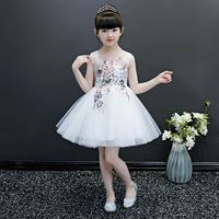 Teenage Girls Flowers Tutu Party Princess Dress Toddler Girl Clothing Vestidos Kids Dresses For Girls Wedding Birthday Gowns F80