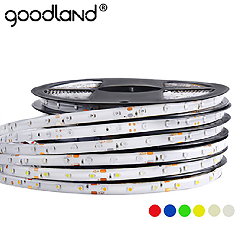 RGB LED Strip Light 5m LED Ribbon 60LEDs/m SMD 2835 5050 DC12V Waterproof Flexible Tape 12V White for Home Decoration 36w 12v 1200lm 150 smd 5050 led rgb waterproof decoration light strip kit 12v 5m