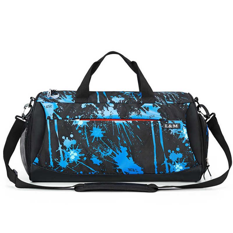 9704b19a 30L водонепроницаемый спортивная сумка мужская обувь карман фитнес Йога тренировки  спортивную сумку Женщины отдых путешествия сумки