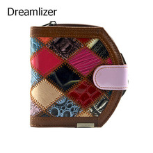 Lovley Short Hasp Cowhide Genuine Leather Women Coin Bag Wallet Stitching Designer Cartera Purse Female Card Wallet