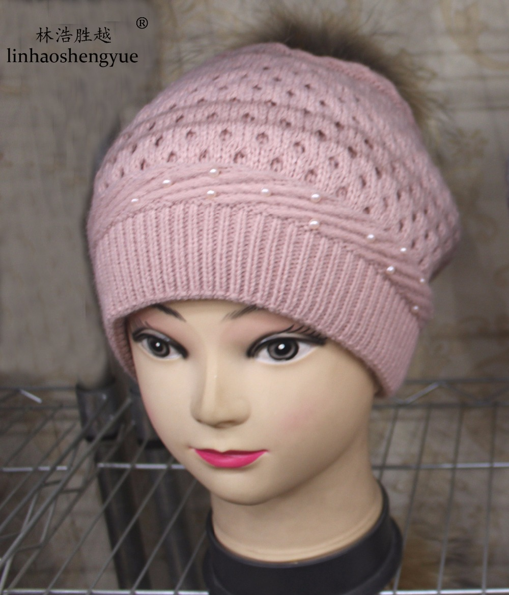 Linhaoshengyue NEW High quality knitted hat fashion women cap