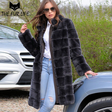 2018 New Trendy Real Fur Coat Full Pelt Nature Rex Rabbit Fur Warm Winter Outerwear Clothes Rabbit Jackets For Female Especially