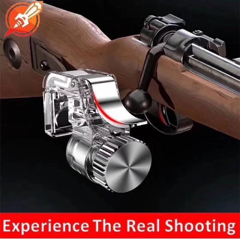 2PCS Metal PUBG Gaming Trigger Fire Button PUBG Mobile Controller L1R1 Shooter Fire Trigger Aim Key For PUBG Smartphone Games