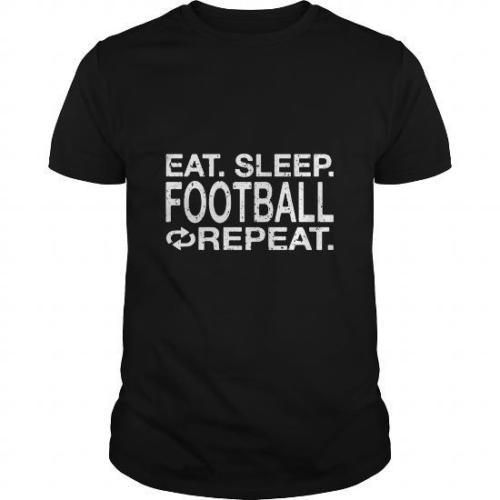 Designer Tee Shirts Eat. Sleep. Footballer Repeat. O-Neck Men Short Sleeve Funny T Shirt
