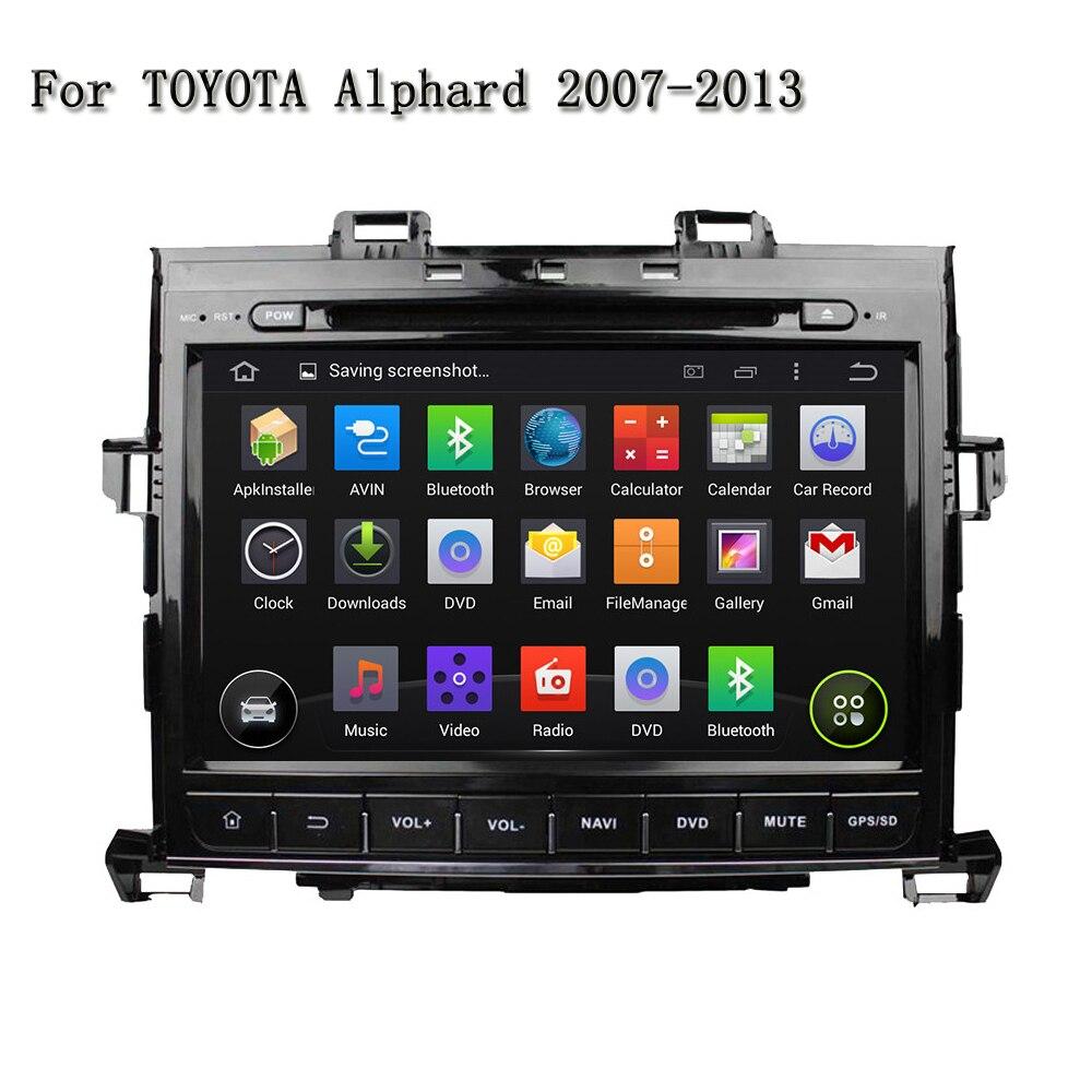 9 2 DIN Встроенный Bluetooth Функция Сенсорный экран GPS dvd-плеер автомобиля для Toyota Alphard 2007-2013 Поддержка 3G/4 г сети