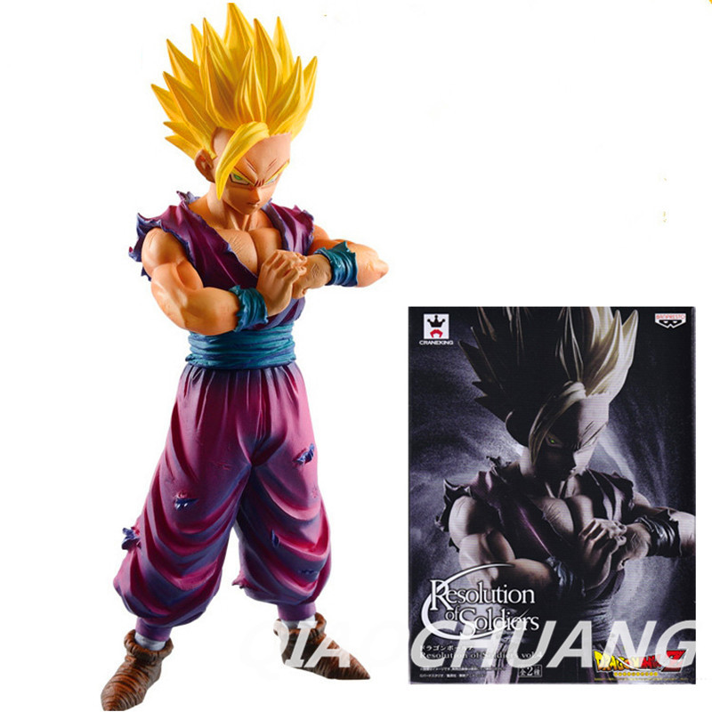 Dragon Ball Z Resolution of Soldiers ROS Son Gohan PVC Action Figure Collectible Model Toy 15cm Boxed W52  [pcmos] anime dragon ball z ros resolution of soldiers awaken son gokou 57 pvc figure 15cm 6in toys collection no box 5932 l