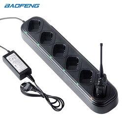 Baofeng UV 5R ładowarka walkie talkie 6 way stacja ładująca 48W ładowarka do Baofeng UV5R UV5RE UV5RA|Części i akcesoria do krótkofalówek|Telefony komórkowe i telekomunikacja -