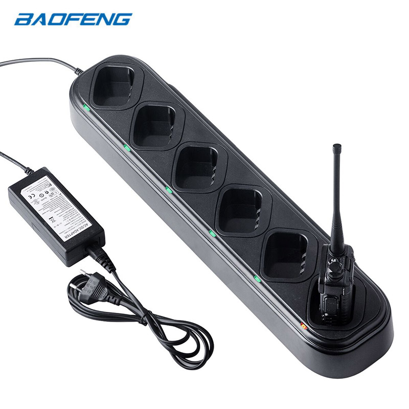 Baofeng UV-5R Charger Walkie Talkie 6 Way Charger Station 48W Battery Charger For Baofeng UV5R UV5RE UV5RA