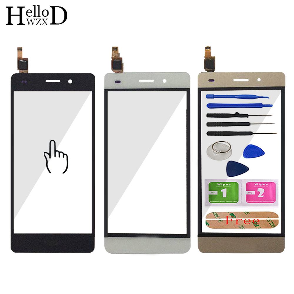 Mobile Phone Touch Screen Front Glass For Huawei P8 Lite Touch Screen Glass Digitizer Panel Touchscreen Lens Sensor