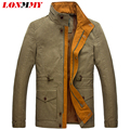 LONMMY M-3XL Jackets mens coats Cotton Long style jaquetas men casual jacket Man coat army brand Military 2016 mens jackets