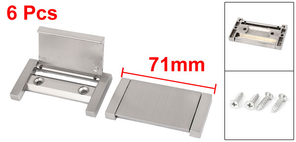 Drawer Cabinet Door Cupboard Concealed Metal Pull Handle Grip Silver Tone 71mm Long / 40mm Long 6pcs drawer cabinet door round recessed metal pull handle knob 43mmx15mm 6pcs bronze tone silver tone