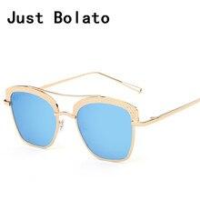 New mujeres de lujo de la marca de gafas de sol de la vendimia gafas de sol retro espejo lente gafas de sol mujeres originales gafas de sol de metal
