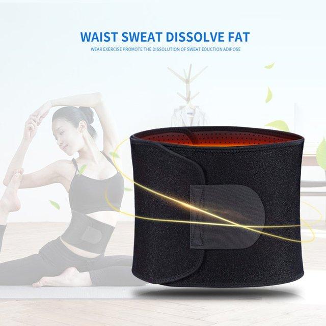 Adjustable Waist Tummy Trimmer Slimming Sweat Belt Fat Burner Body Shaper Wrap Band Weight Loss Burn Exercise quemador de grasa 1