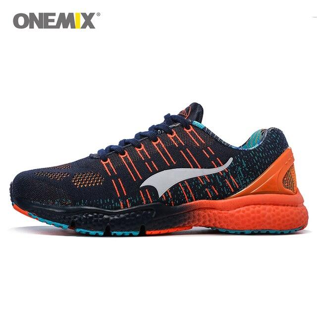 bc8991c362d9c Onemix hommes chaussures de course femmes sport formateurs respirant  intelligente loisirs athletic sneaker fly ligne jogging