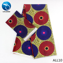 LIULANZHI african fabrics Latest multicolor prints nigerian Audel fabric with chiffon lace for dress 6yards ALL01-ALL25