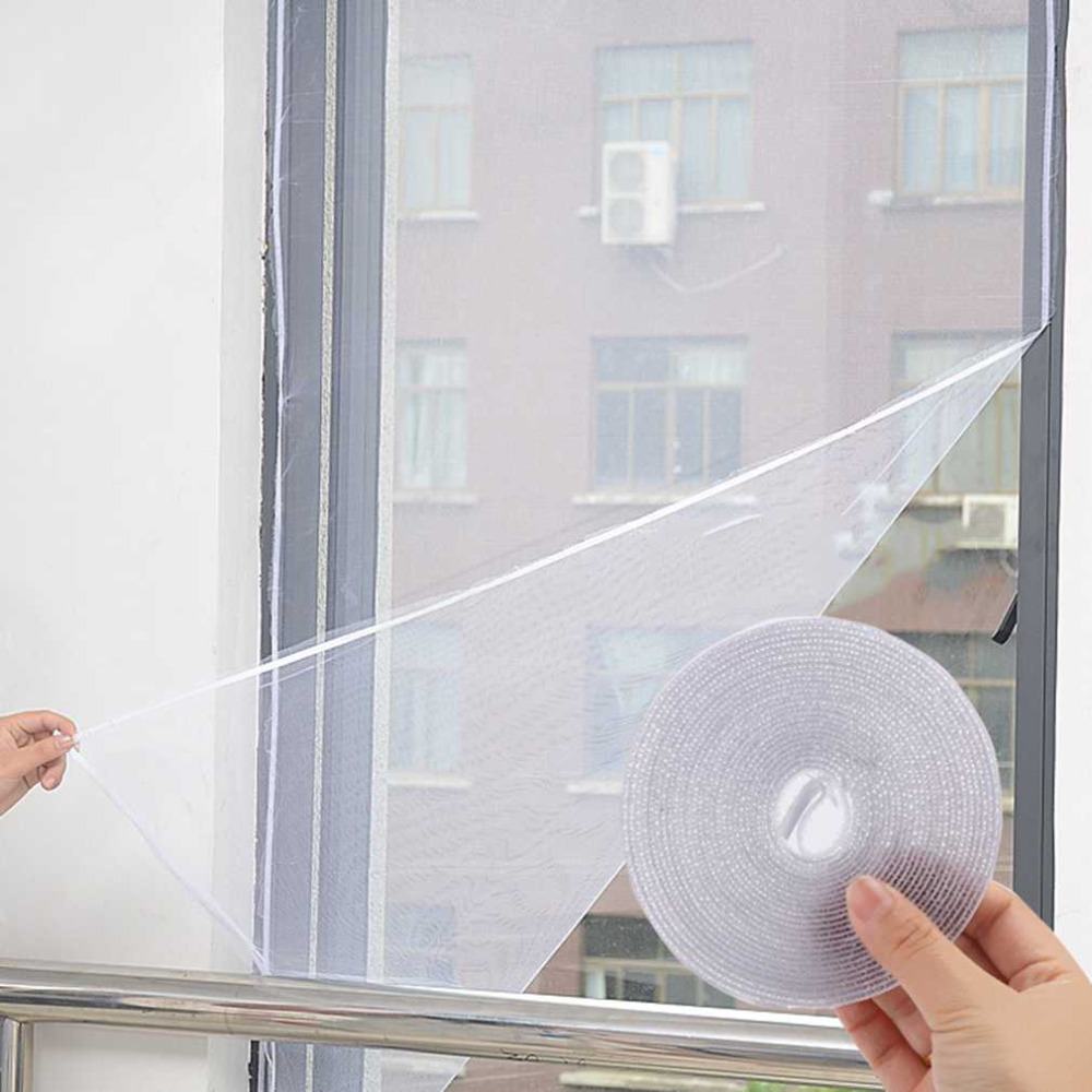 1,5*1,3 M Fenster Tür Bildschirm Diy Fliegengitter Vorhang Insektenschutz Fly Moskito Bug Fenster Tür Siebe Hause Küche