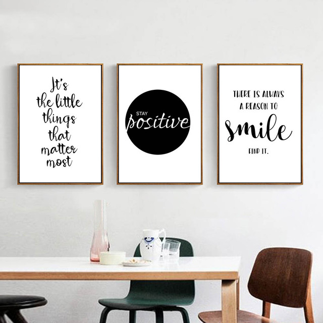 Aliexpress Buy Black White Motivational Life Quote Canvas Art Simple Life Quote Posters