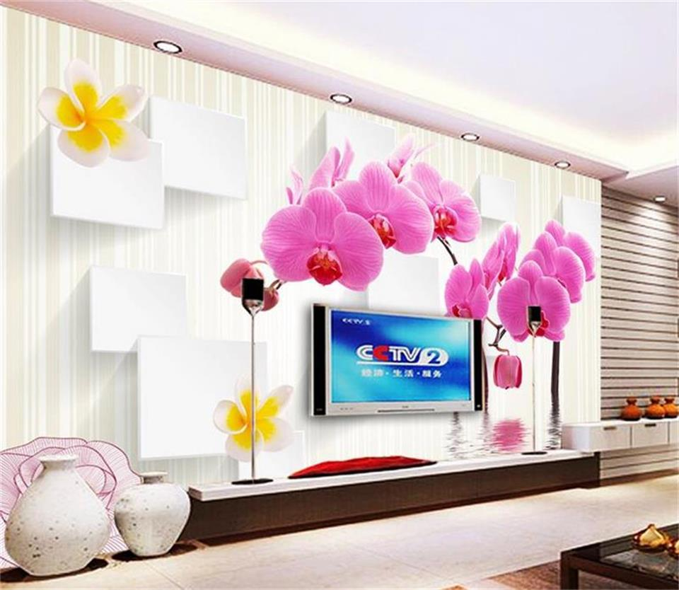 3d wallpaper photo wallpaper custom size mural living room moth orchid box 3d painting sofa TV background wallpaper for wall 3d custom 3d mural wallpaper print modern living room sofa tv bedroom fashion colorful lion photo background decor wall paper rolls