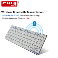 CHUYI Ultra Slim Wireless Keyboard Bluetooth 3 0 Computer Portable Keybaord For Tablet Apple IPad IPhone