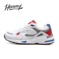 Hemmyi Mesh Round Toe Female Shoes Lace Up Mixed Colors Women Casual Shoes Hard Wearing Breathable