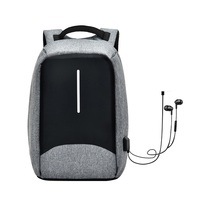Naivety Cell Phone Pocket Backpack Male Zipper Waterproof Anti Theft Backpacks Men Usb Panelled Oxford 28S71113