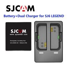 Оригинальный SJCAM 3.8 В 1000 мАч 3.7wh литий-ионный Батарея черный + Батарея двойной Зарядное устройство для SJCAM sj6 Легенда спорта Камера DV