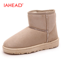 IAHEAD Winter Snow Boots Brand Ankle Rubber Boots Fashion Women Winter Shoes Cheap Woman Winter Boots