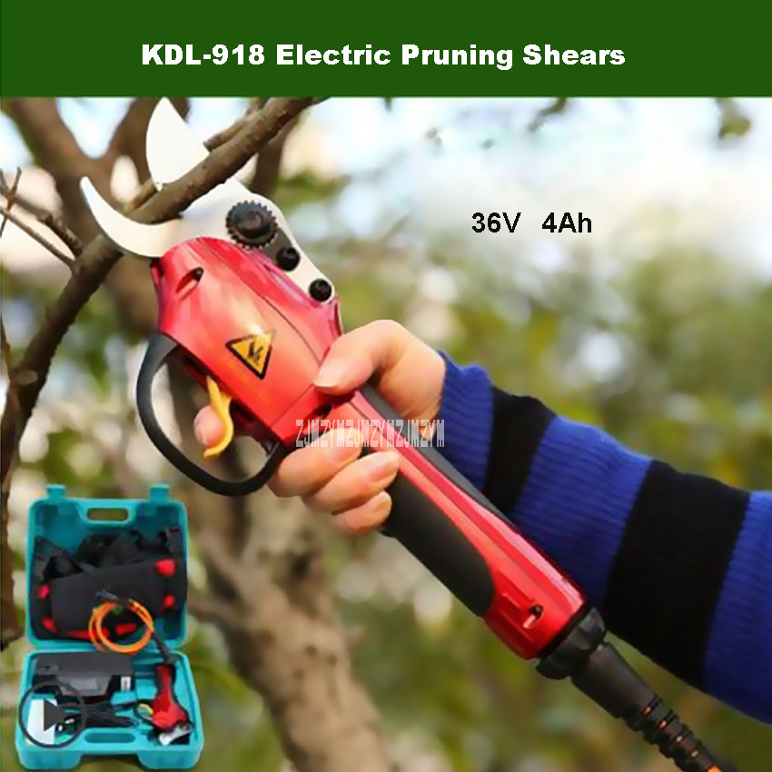 New KDL-918 Electric Fruit Tree Pruning Shears Portable Pruning Scissors Rechargeable Branch Scissors 36V 4Ah 25mm Hot Selling