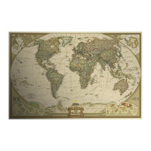 Декоративная крафт-бумага ядро английский мира плакат живопись классический карта ретро канцелярские