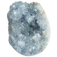 1 Pc naturel bleu Celestite minéral guérison cristal Cluster Geode irrégulière pierre gemme décoration de la maison spécimen (80g-150g)