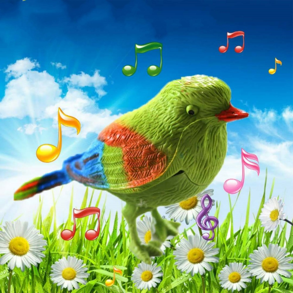 Sincere Voice Control Music Bird Toy Simulation Cute Sing Song Bird Toy Doll 2018 Funny Electronic Pet Cage Decoration Toys Morning Bir Beautiful And Charming