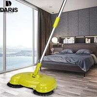 SDARISB Stainless Steel Sweeping Machine Push Type Magic Broom Dustpan Handle Household Vacuum Cleaner Hand Push