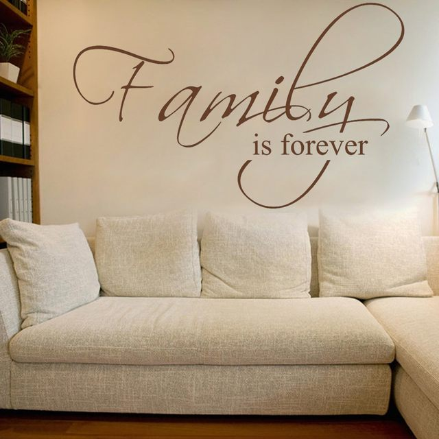 Online Shop Family is Forever - Housewares Couples decal Bedroom ...