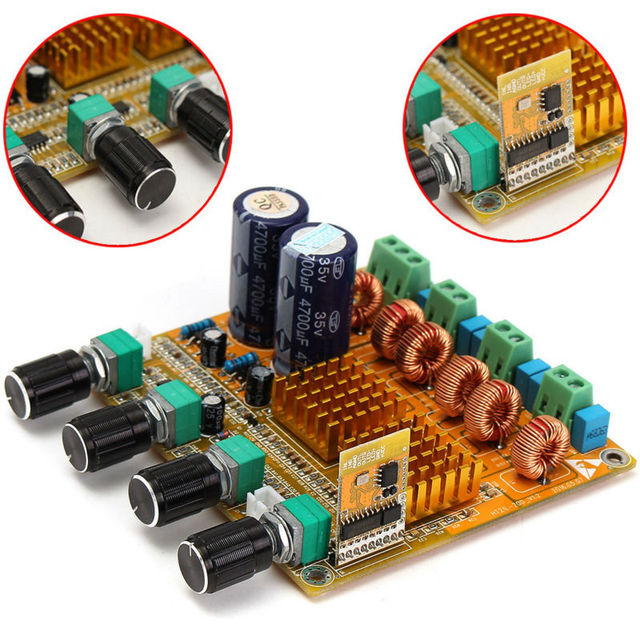 Bluetooth 4.0 Digital 2.1 Class D HIFI Power Amplifier Board 3 Channel Amp Module Dual Power Supply Mode Free Shipping