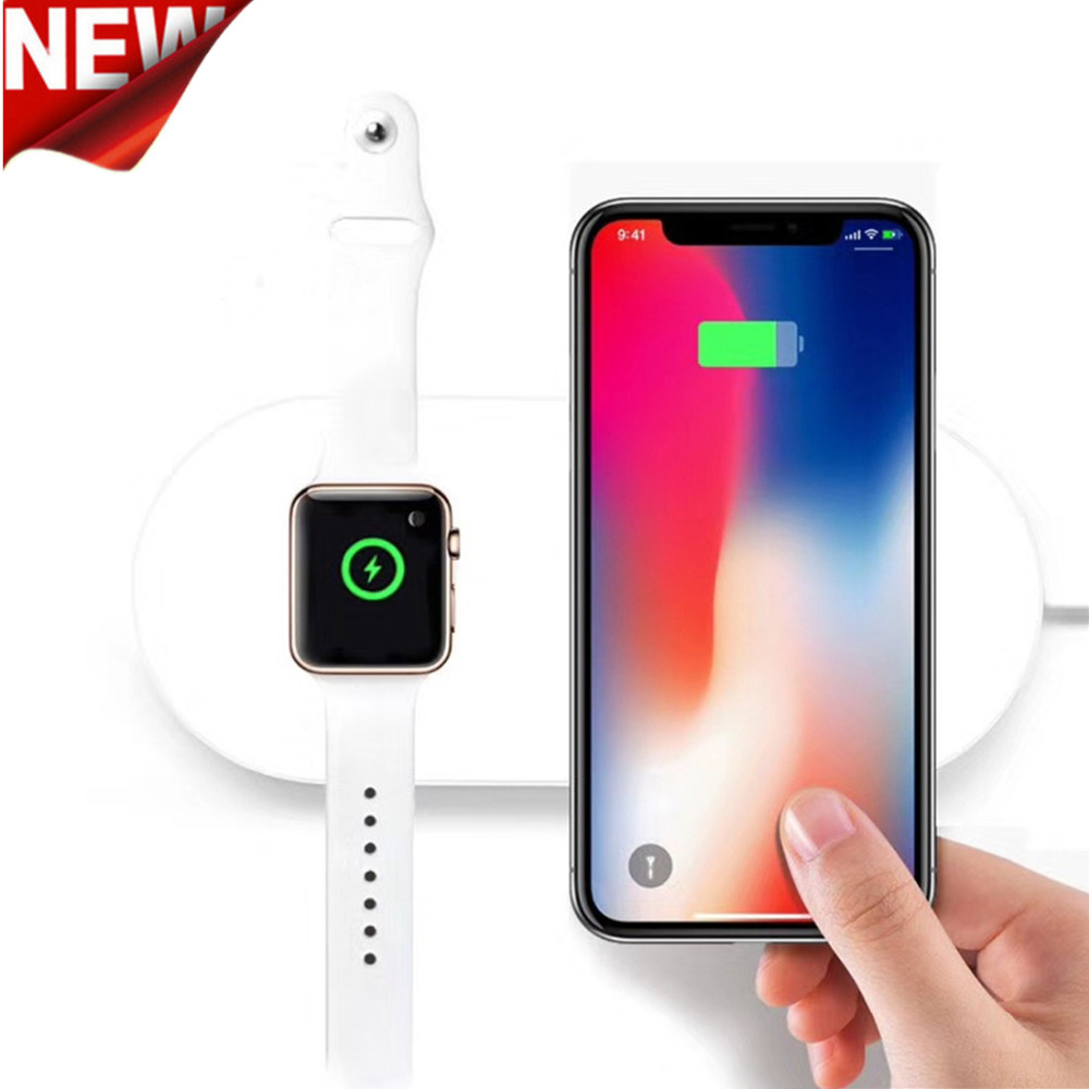 charger For Apple Watch 4/3/2 Iphone X 8 8 plus Samsung Galaxy S9 S8 wireless charging for Iwatch 42mm/38mm/40mm/44mm crested charger for apple watch band iwatch series 4 3 2 1 qi wireless iphone x 8 plus samsung 10w fast charging dock station