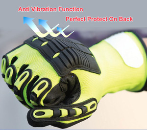 Image 2 - NMSafety Wholesale Shock Absorbing Mechanics Impact Resistant Work Glove Anti Vibration Oil Safety Glove