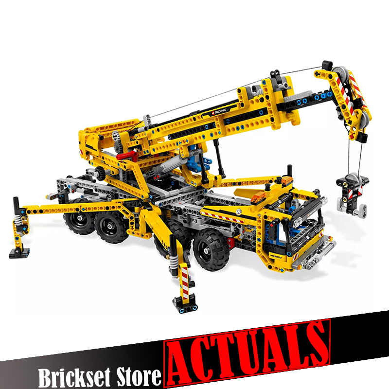 Lepin 20040 1392Pcs Technic Mechanical Series The Moving Crane Educational Building Blocks Bricks Toys for children Gifts 8053 wange mechanical application of the crown gear model building blocks for children the pulley scientific learning education toys